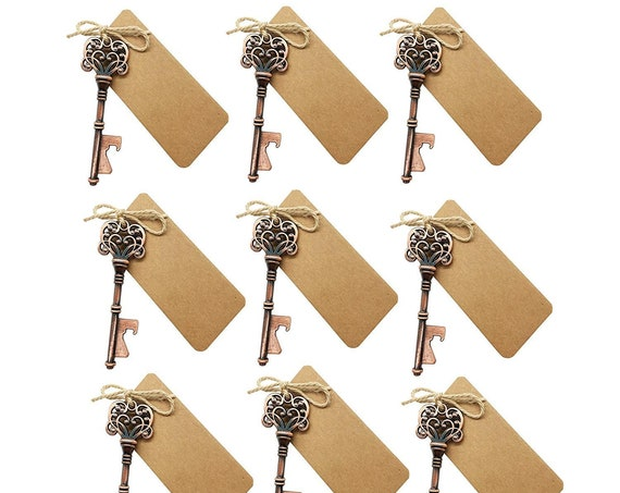 Skeleton Key Bottle Openers Favours Mens Favours Rustic Wedding Table Decor Favour Ideas (Qty 25)