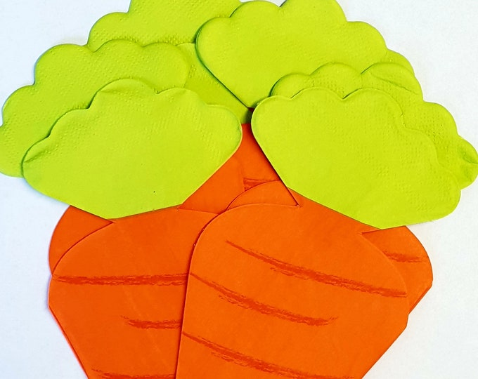 20 Easter Napkins Carrot  Party Decor