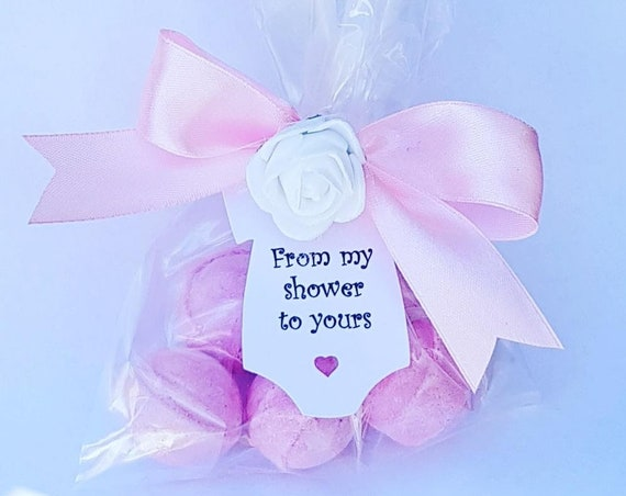 Bath Bomb Favours Baby Shower Bridal Shower Hen Party My shower to Uours Bath fizzes Favours (QTY 1)