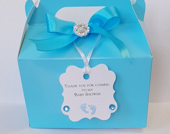 5 x Baby Shower Favour Boxes Party Box Gender Reveal Lunch Box Gift Box