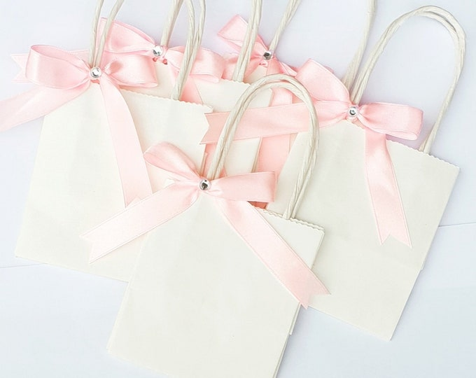 10 Mini Favour Bags Romantic Wedding Baby shower bags Gift bag Bridal Shower Favours