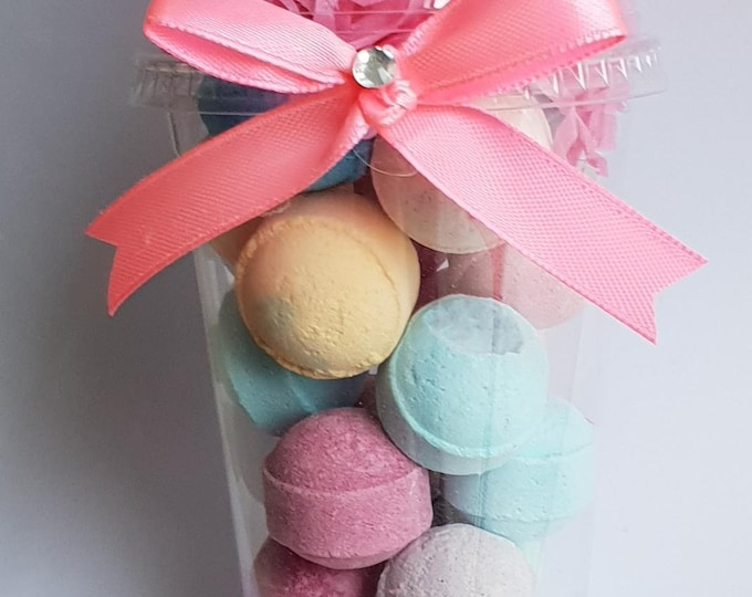 Bath Bomb Favours Gift Bath fizzers Sleep Overs Hen Party Baby Shower