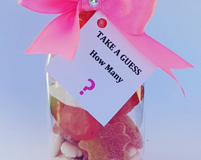 Party Games. Guess how many Sweets in the jar Baby Shower Games Sweet jar