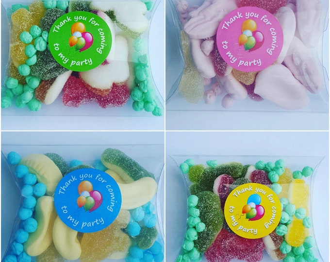 Childrens birthday sleep over slumber party candy treat favours
