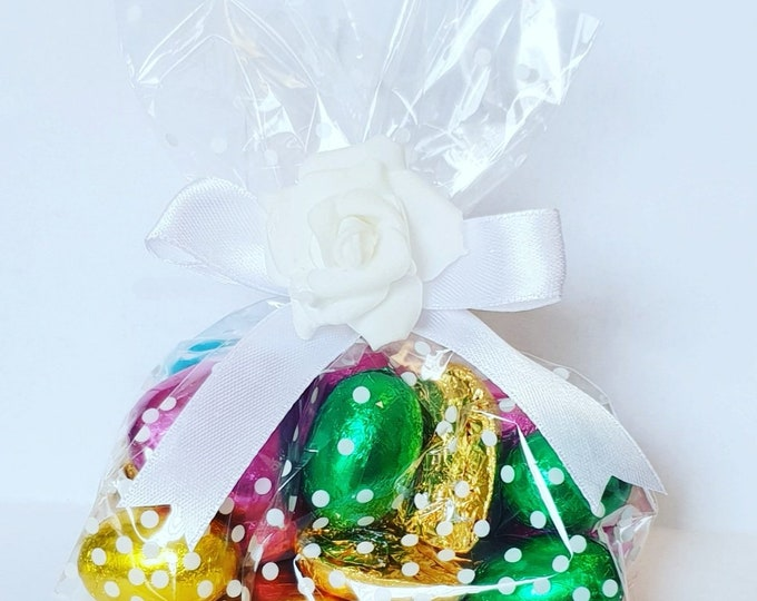 Cello Bags filled with Chocolates Ladybirds Bugs Prefilled Favours Wedding Birthday Party Baby Shower