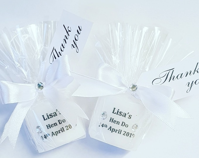 Hen Party Favours Personalised Candles Bridal Shower Bride to Be Hens