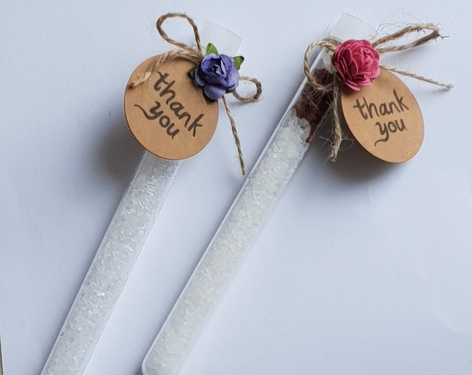5 Bath Salt Favours Wedding Favours Bridal Shower Test Tube Favours Rose Petal Lavender Favours