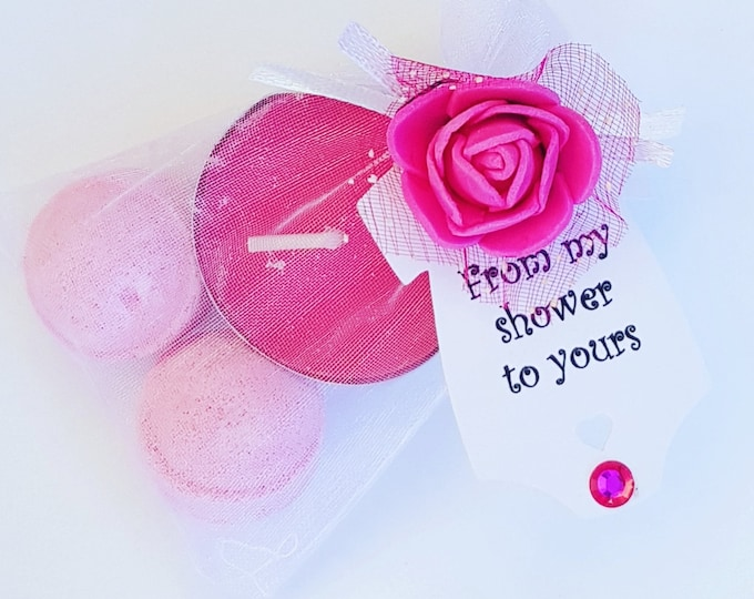 Baby Shower Bridal shower Favours Bath Fizz bombs Tealight candle Favours Bath Bomb Favours