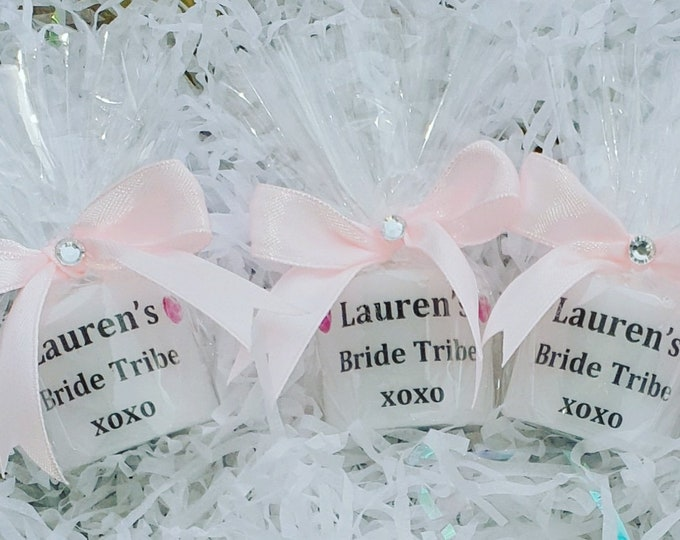 Hen Party Personalised Candles Bride Tribe Hens Bridal Shower Keepsakes