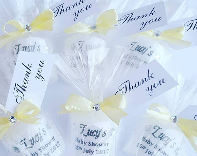 Baby shower personalised candle favours Gender reveal