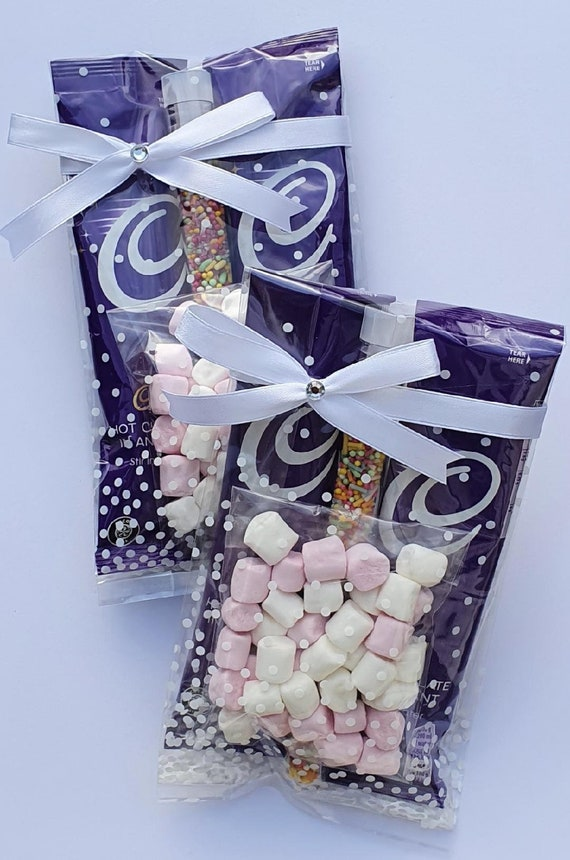 Hot Chocolate Drink Favours Marshmallows Sprinkles Wedding Party Gift Birthday Thank You Lockdown Treat (Qty 1)
