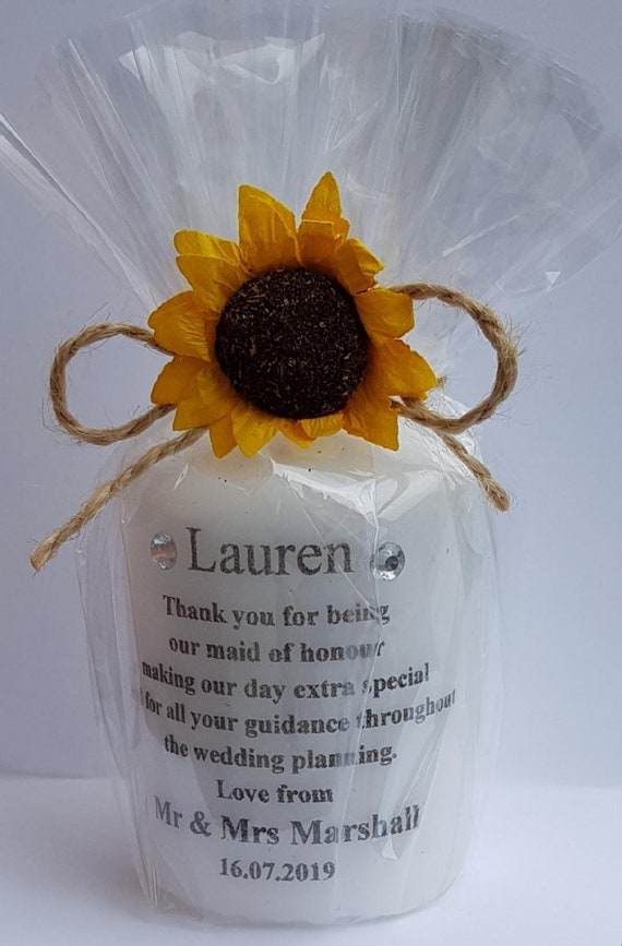 Rememberance  Candle Wedding Baby Shower Anniversary Personalised Gift Bespoke (Qty 1)