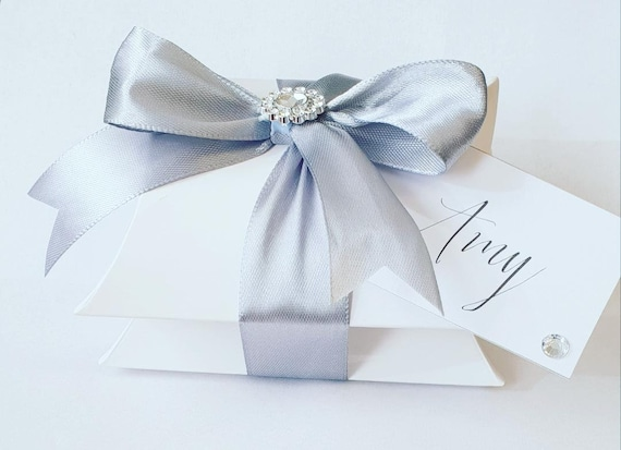 10 x Stacked Pillow Box Favours Wedding Baby Shower Birthday Luxury Party Favours