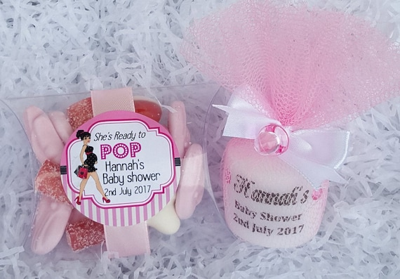 Baby Shower Favours Personalised Candle and Pillow Box candy Baby Shower Package Favours