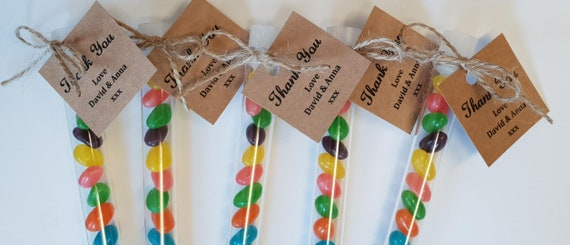 Jelly Bean Test Tube Shots Prefilled Party Favours Birthday Wedding Baby Shower (Qty 10)