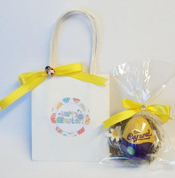 Easter Egg Favours Mini Eggs in Bag Easter Creme Egg Gift Party Teacher Gift