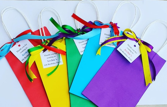 Rainbow Party Favour Bags Baby Shower Christening Hen party Weddings Favour bags Sleep Over (QTY 1)