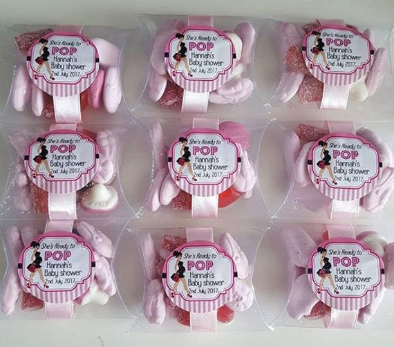 Baby Shower Favours Candy Prefilled Sweets  Gender Reveal Pillow Box