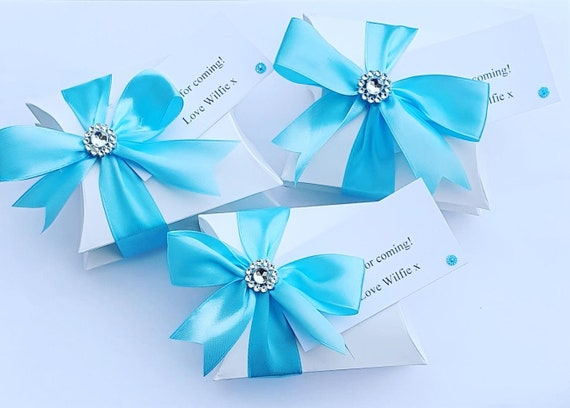 Stacked Pillow Box Favours Wedding Baby Shower Birthday Luxury Party Favours (Qty 10 sets)