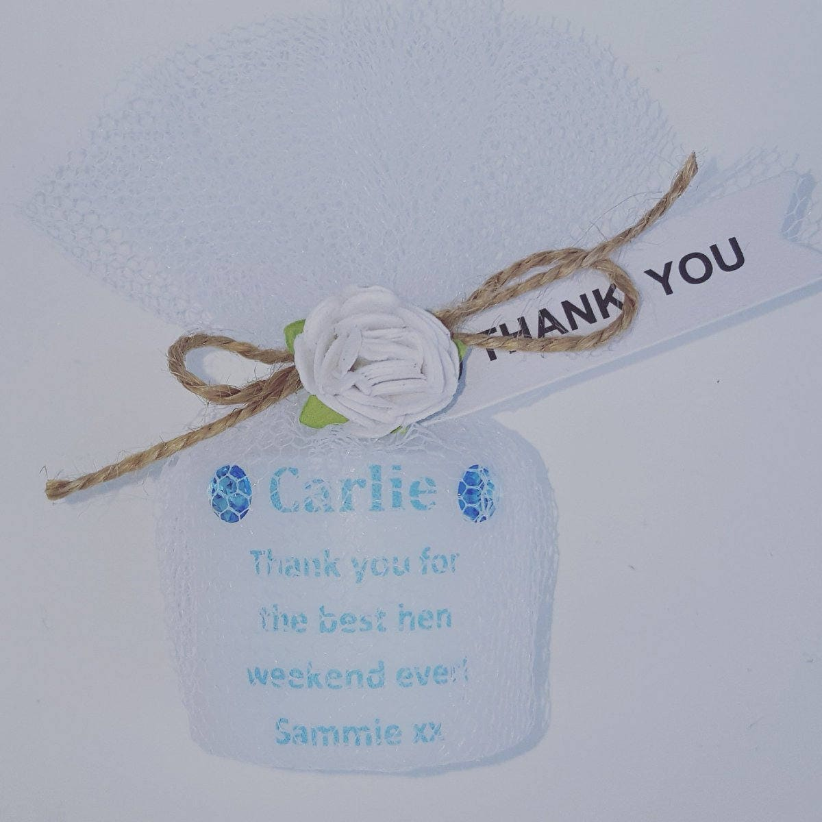 Custom Made Personalised Candle With Any Wording Baby Shower