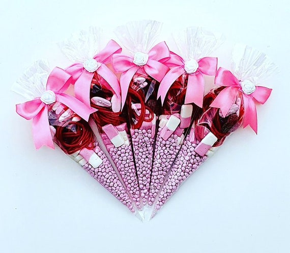Sweet Cones Party Favours Baby Shower Sweet 16 Hen Party Thank You Birthday Favour (Qty 10)