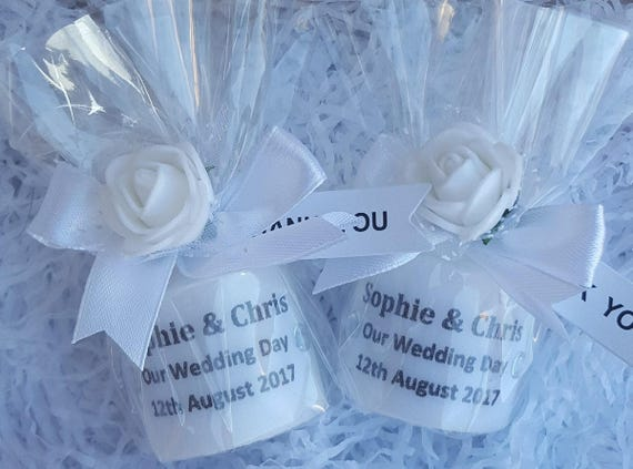 Wedding Candle Favours Personalised Candle Gift Keepsake (Qty 1)