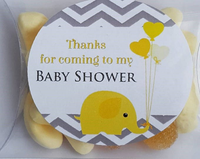 Baby shower pillow box candy favours. Yellow Boy or girls favours