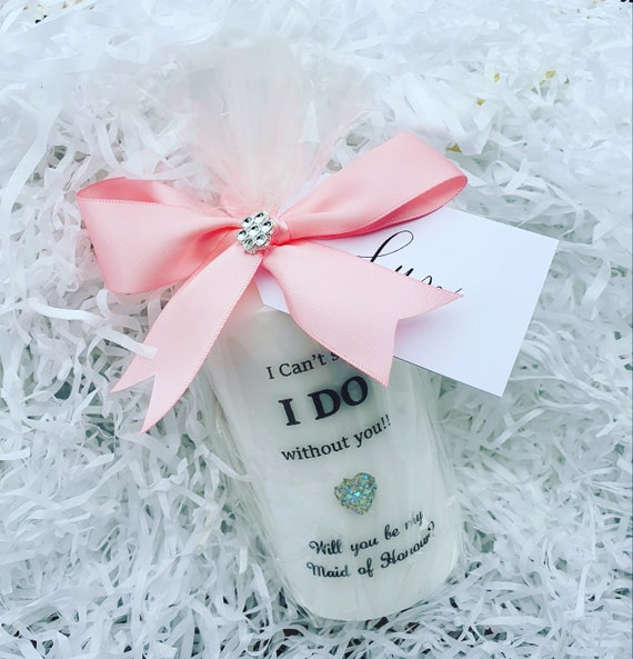 I Can't Say I Do Without You Bridesmaid Proposal Candle Pillar Flowergirl Maid of Honour Wedding (Qty 1)