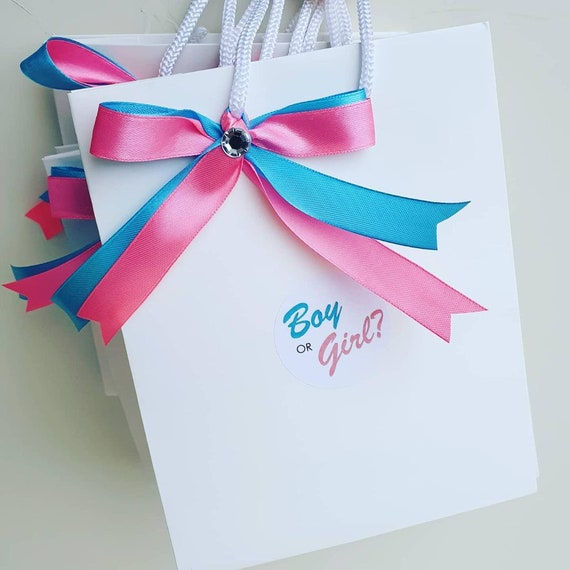 Luxury Gender Reveal  Favour Bags Baby SGoodie Bag Gift (Qty 5)