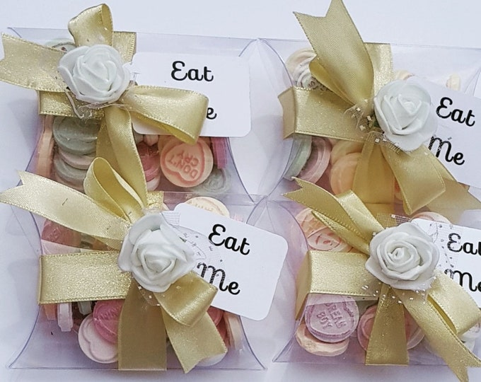 Wedding party baby shower love heart pillow box favours. All colours