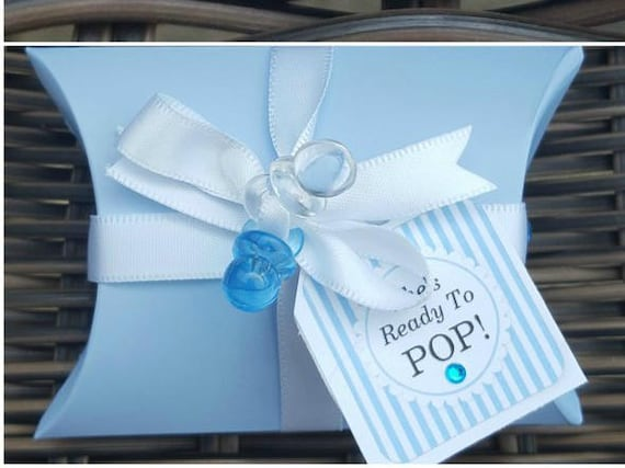 Baby Shower Pillow Box Favours  Unisex Keepsake Mum to Be (Qty 10)