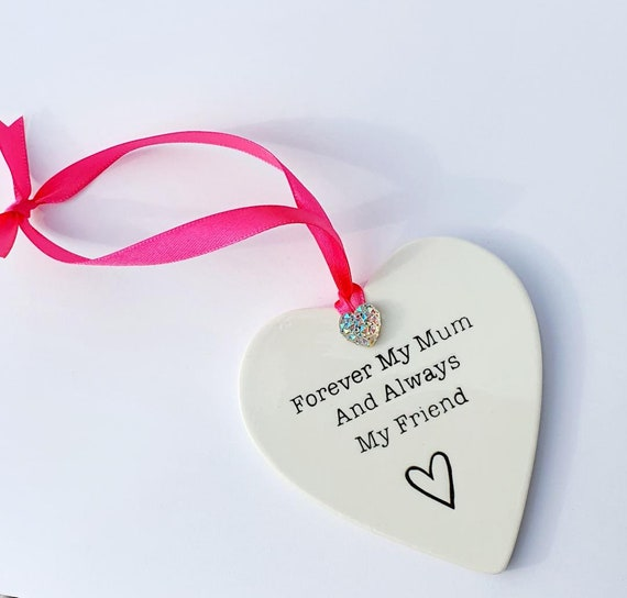 Mothers Day Ceramic Heart Hanging Gift Home Decor