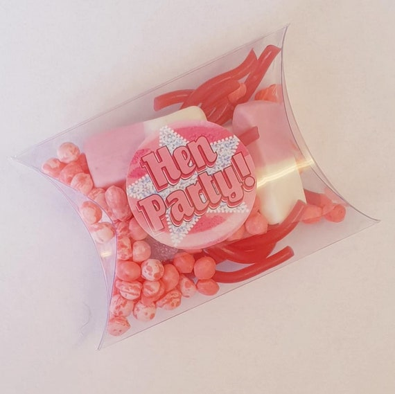 Hen Party Pillow Box Favours Pink Sweets Bridal Shower (Qty 1)