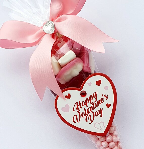 Valentines Day Gift Sweet Cones Treat  Childrens Candy Party (qty 1)