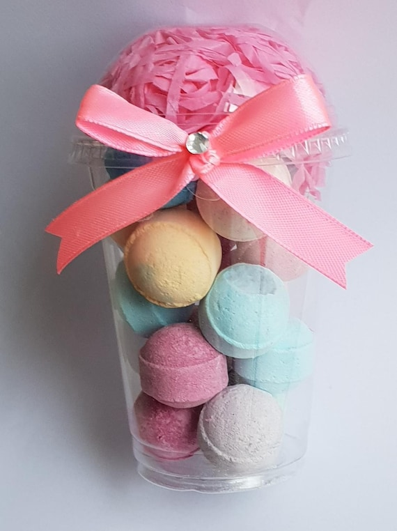 Bath Bomb Favours Gift Bath fizzers Sleep Overs Hen Party Baby Shower Spa Day