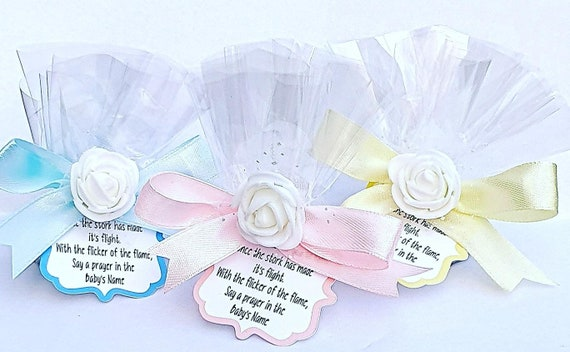 Scented Tealight Candle Favours Baby Shower Gender Reveal (Qty 10)