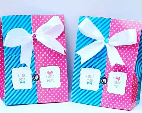 Gender Reveal Favours Baby Shower Prefilled Box Boy or Girl Unisex  (Qty1)