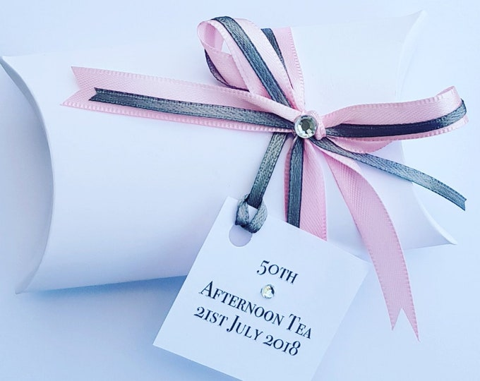 Pillow box favours Afternoon tea Birthday Baby shower Wedding parties