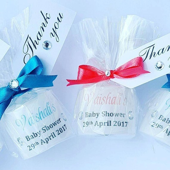 Baby Shower Favours. Personalised Candle  Gender Reveal Keepsake