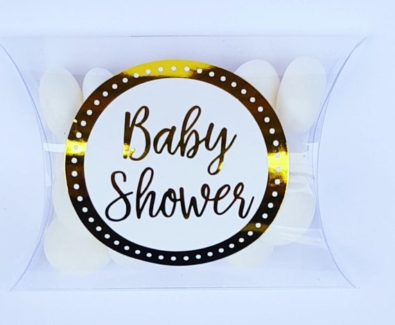 Baby shower prefilled candy favours Gender reveal Gold baby shower favours (Qty 1)