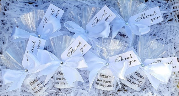 Hen Party Favours Personalised Candles Bridal Shower Bride to Be Hens Keepsake (QTY 1)