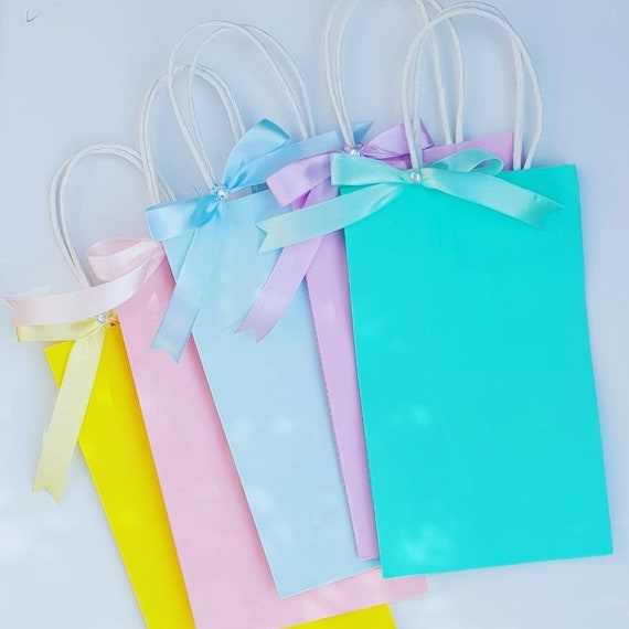 Pastel Party Favour Bags Birthday Treat Bags Baby Shower Unicorn Theme Bridal Shower Favours (Qty 5)
