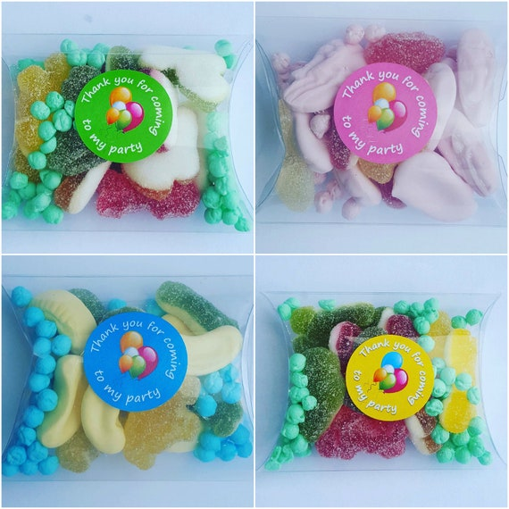 Childrens Birthday Party Favours  Sleep Over Slumber Party Prefilled Pillow Box