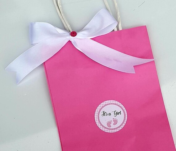 Pink Baby Shower Favour Bags Its A Girl Gender Reveal Good ie Bag