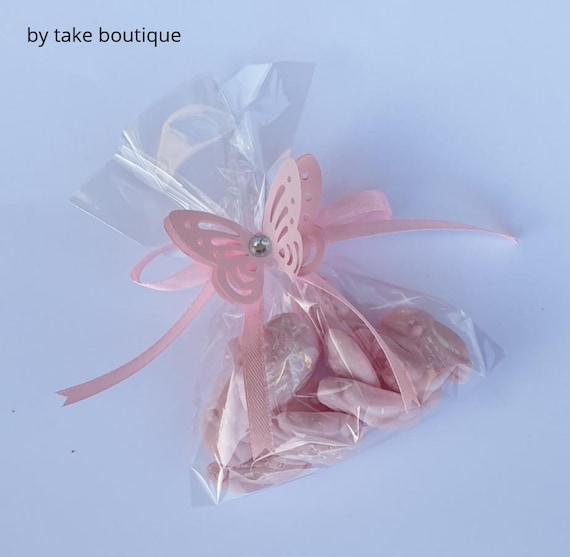 Baby Shower Favours Pink Butterfly Sweets Gender Reveal Birthday Party Treats (QTY 10)