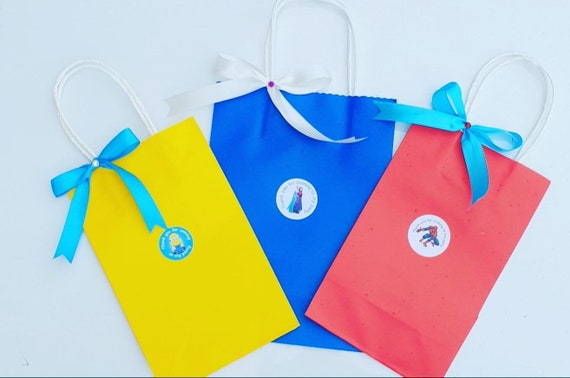 Childrens Themed Party Bags Cartoon Character Favours Goodie Bag Birthday Party Treat Bag (Qty 1)