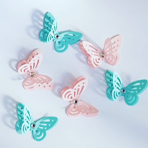 3D butterflies Baby shower Wedding Table Decor Craft embellishment Confetti