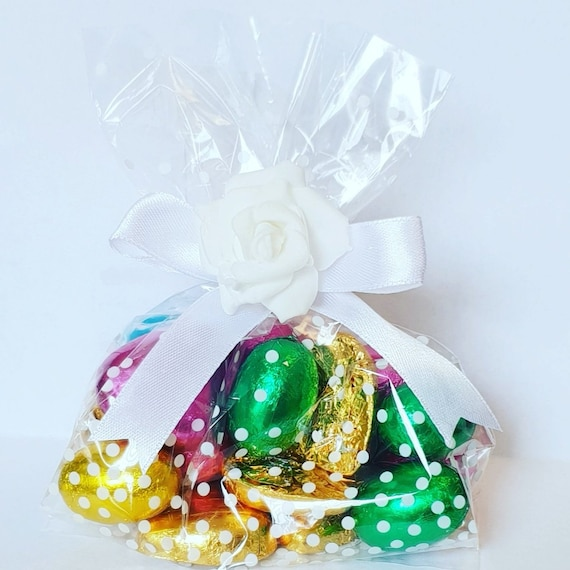 Cello Bags filled with Chocolates Ladybirds Bugs Prefilled Favours Wedding Birthday Party Baby Shower (Qty 1)