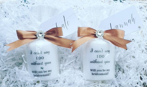I Can't Say I Do Without You Bridesmaid Proposal Candles Pillar Candle Flowergirl Maid of Honour Wedding (Qty 1)