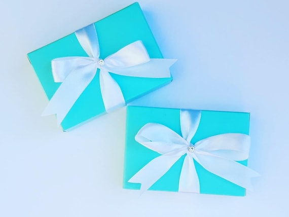 10 x Duck Egg Blue Favour Boxes Cake Box Wedding Baby Shower Birthday Party